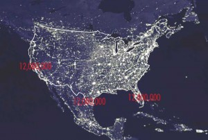 By 2030, California, Texas and Florida will increase by 12 million inhabitants.